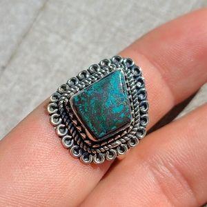 Chrysocolla 925 Ring Size 7.25